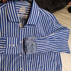 NWOT English Laundry Blue Striped Dress Shirt